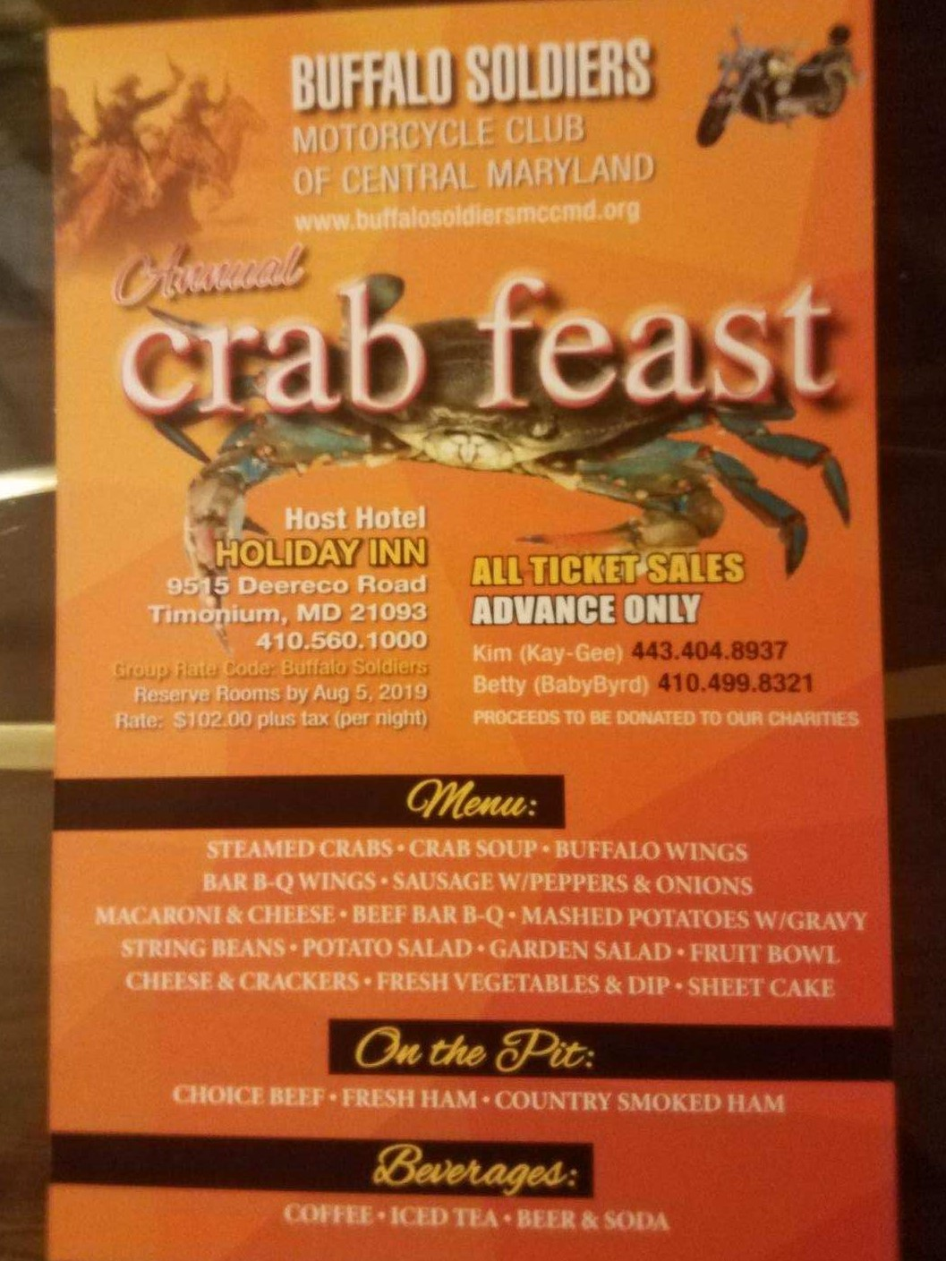 BSMC Central MD Annual Crab Feast 2019 | Buffalo Soldiers ...